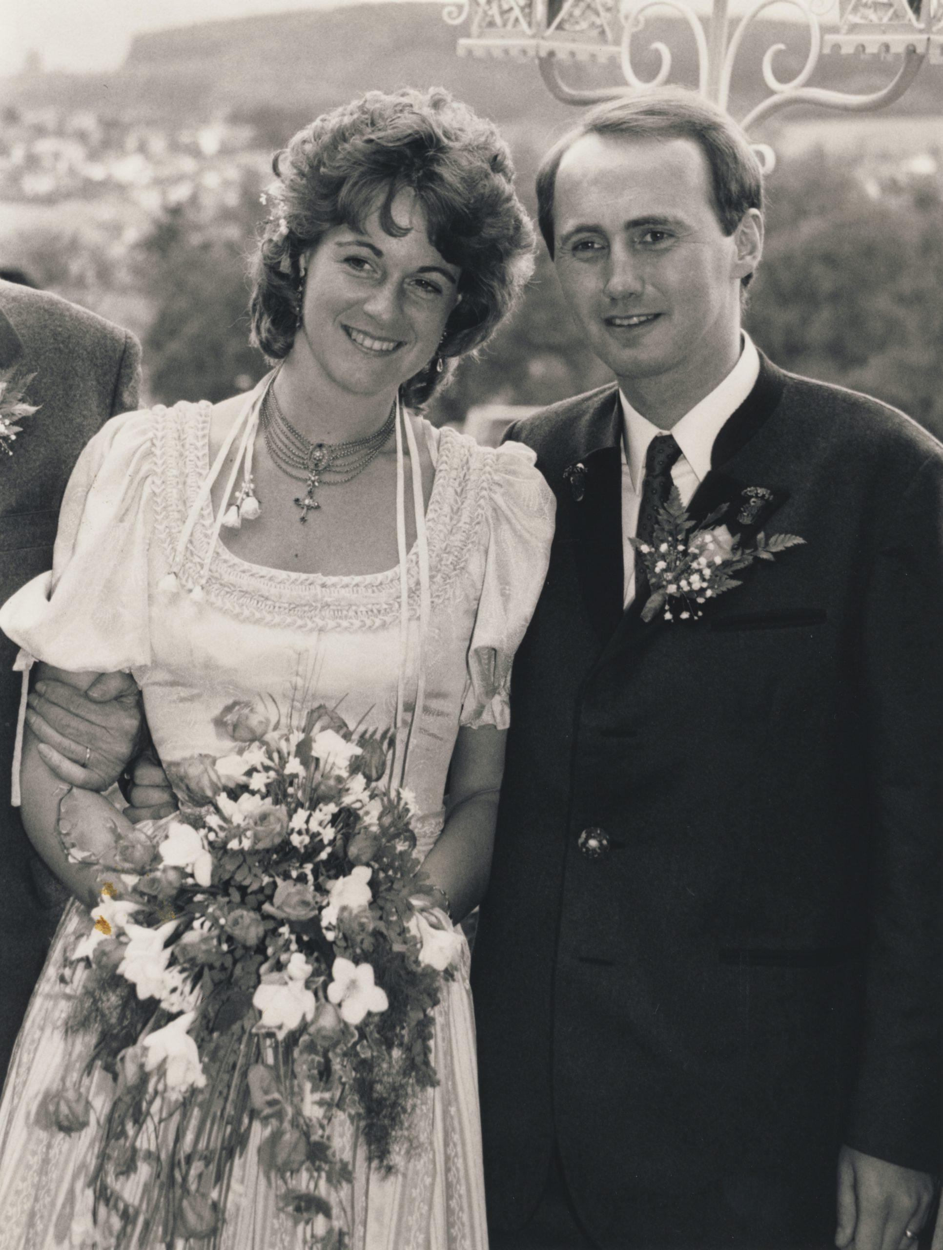 1987-06-20 Hochzeitsfoto mit Christa Kopie